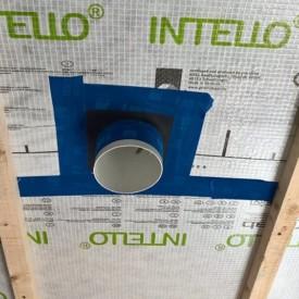 Airtight tape around vent pipe
