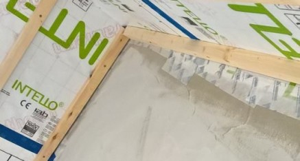 Airtight Membrane Sealed to Airtight Plaster