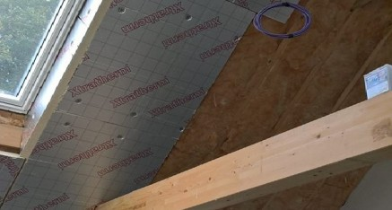Insulation on vaulted ceiling