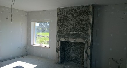 Preparing a Fireplace and Room for Plastering