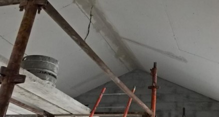 Preparing a vaulted ceiling for plastering
