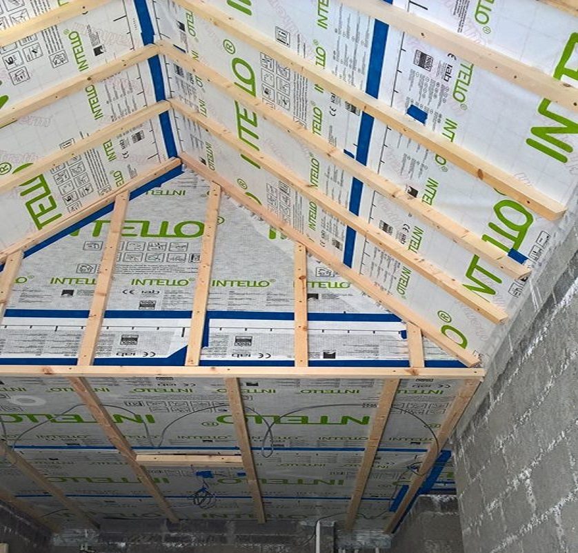Airtight Membrane with counter battening
