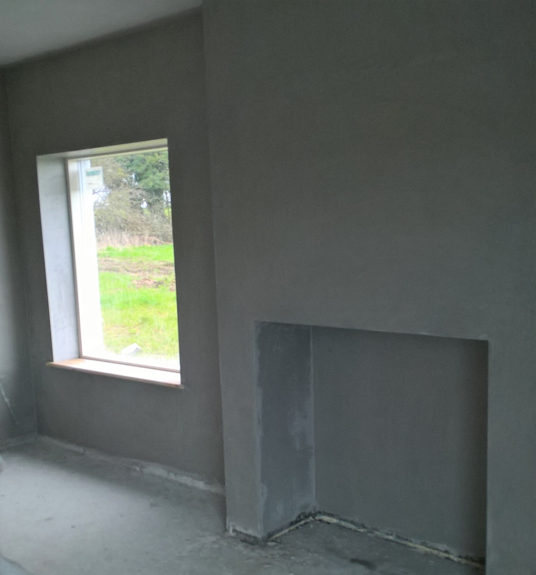 Finished Fireplace and Room