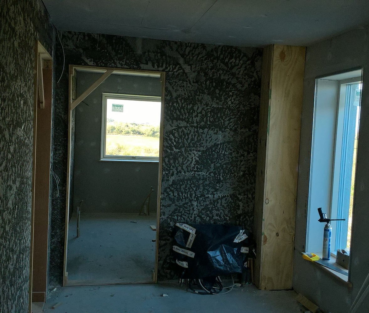 Walls Scudded and Ready for Floating
