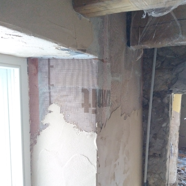 Lime plaster over woodfiber Boards